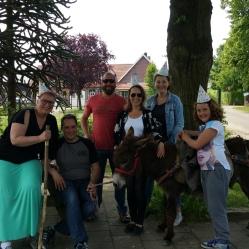 Nog even een groepsfoto. We liepen echt voor lul.